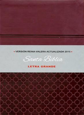 RVA Biblia Letra Grande (Imitación Piel Guinda)