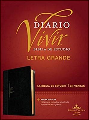 RVR 1960 Biblia de Estudio del Diario Vivir Letra Grande (SentiPiel, Negro, Ónice, Índice)