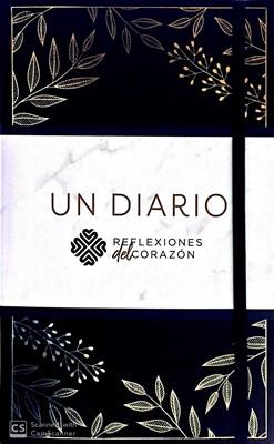 Un Diario (Símil piel, con cierre elástico y cinta, negro)