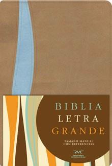 RVC Biblia Letra Grande Manual (Imitación Piel  / Beige-Azul)