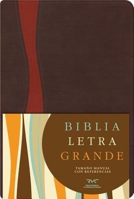 RVC Biblia Letra Grande Tamaño Manual (Símil Piel Chocolate Cobrizo)
