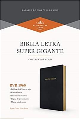 RVR 1960 Biblia Letra Súper Gigante (  Imit Piel Negro)