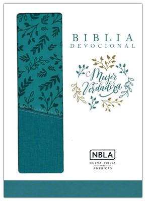NBLA Biblia Mujer Verdadera (Piel Duo-tono Aqua)