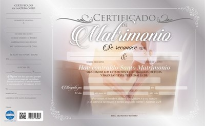 Certificado De Matrimonio (Cartón)