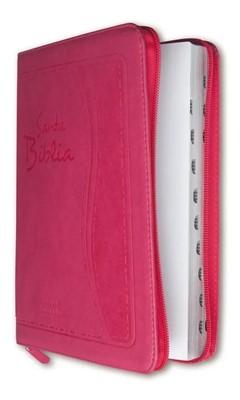 RVR 1960 Biblia con Concordancia y Letra Súper Gigante (Flexible eco Piel con Cierre Rosa)
