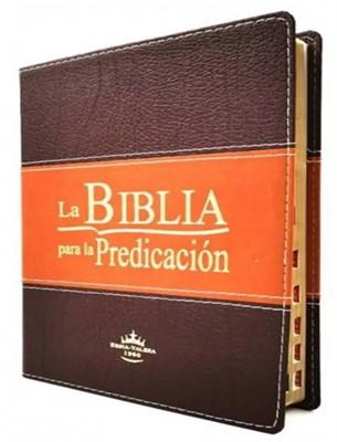 RVR 1960 SBU Biblia Para la Predicación de Letra Grande Con Índice (Imitación piel duotone, índice, canto dorado)