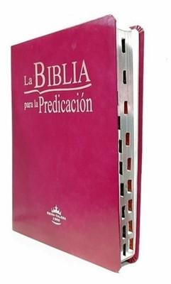 RVR 1960 Biblia De La Predicación Letra Grande (Imitación Piel, púrpura)