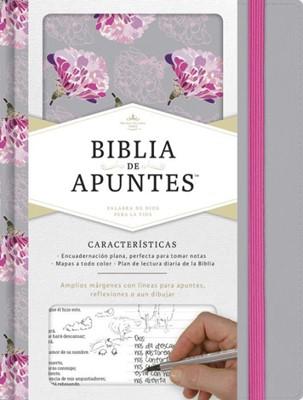 RVR 1960 Biblia de Apuntes Gris Floreada (Tela impresa, floreada gris)