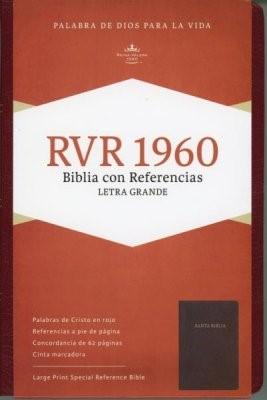 RVR 1960 Biblia Letra Grande Edición Especial y Referencias (Imitación Piel Fabricada Rojizo)
