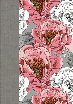 RVR 1960 Biblia de la Mujer Conforme al Corazón de Dios Edición Peonia (Piel, edición de lujo, floreada)