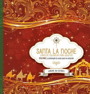 Santa La Noche: Libro De Colorear Para Adulto (Rústica)