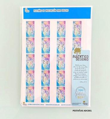 Índice Para Biblia Hojas Multicolor (Plástico)