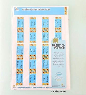 Índice Para Biblia Girasoles Fondo Azul (Plástico)