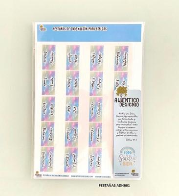 Índice Para Biblia Nubes Multicolores (Plástico)