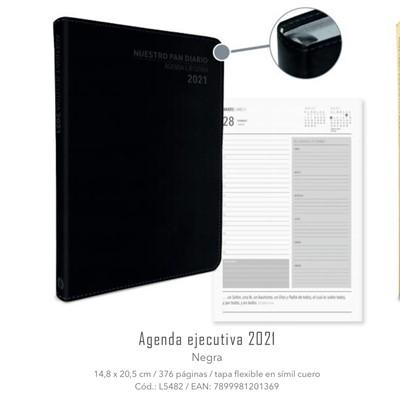 Agenda Ejecutiva Negra 2021 Nuestro Pan Diario (Imitación Piel)