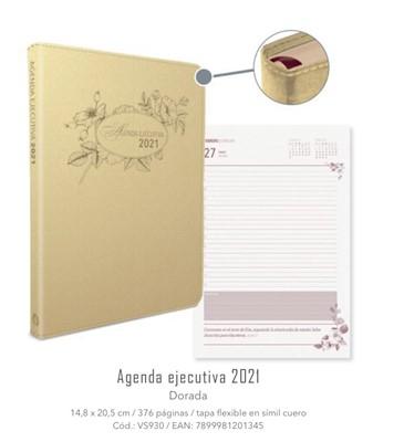 Agenda Ejecutiva Femenina Dorada 2021 Nuestro Pan Diario (Imitación Piel)