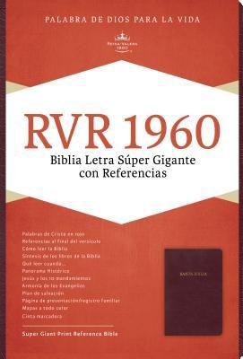 RVR 1960 Biblia Letra Súper Gigante con Índice (Imitación piel borgoña)