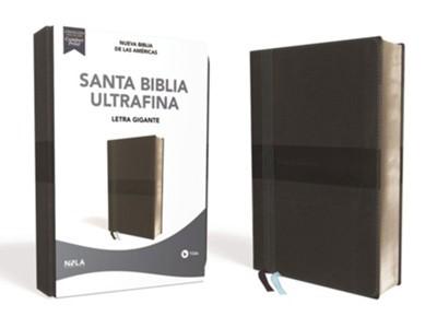 NBLA Biblia Ultrafina Letra Gigante Negra (Imitación Piel)
