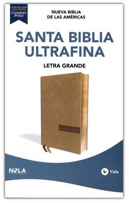 NBLA Biblia Ultrafina Letra Gigante Beige (Piel)