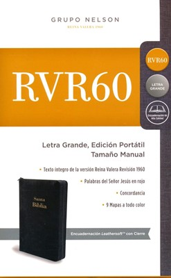 RVR60 Biblia Edición Portátil Con Zipper (Imitación Piel)