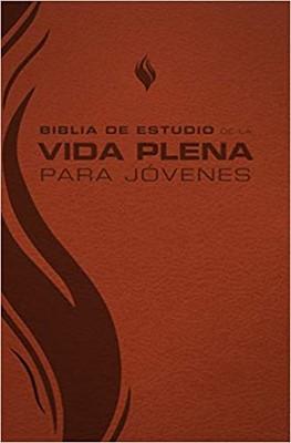 RVR 1960 Biblia de Estudio Vida Plena para Jóvenes (Imitación de Cuero Marrón)
