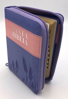 RVR60 Biblia De Bolsillo Letra Grande con Índice y Zipper (Piel dos tonos)