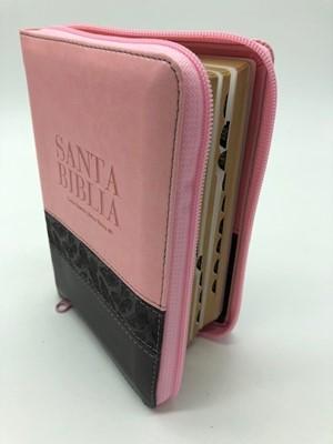 RVR60 Biblia Letra Grande Compacta con Índice y Zipper (Piel dos tonos)