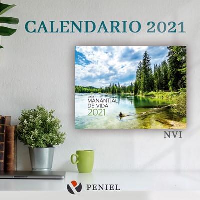 Calendario De Pared 2021 Manantial de Vida (Rústica)