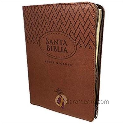 RVR60 SBU Biblia Letra Gigante con Zipper y Corcondancia (Imitación Piel)