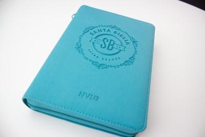 Biblia NVI Letra Grande (Imitación Piel, Turquesa, zipper)