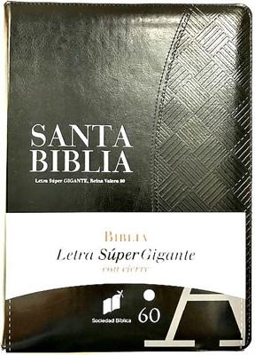RVR60 Biblia Letra Súper Gigante (Imitación Piel Con Índice y Zipper)