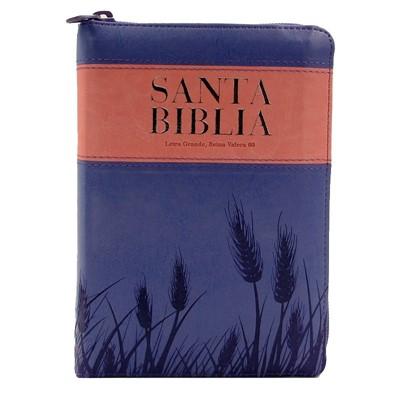 RVR60 Biblia Letra Grande Compacta con Zipper, Índice y Corcondancia (Imitación Piel)