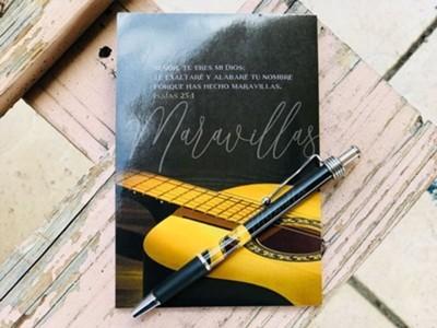 Libreta Pack + Boligrafo Maravillas (Cartón-Metal)