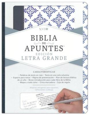 NVI Biblia De Apuntes (Imitación Piel Blanco, Azul)