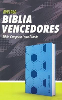 RVR60 Biblia Vencedores Letra Grande (Imitación Piel Azul Compacta)