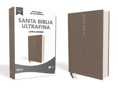 NBLA Biblia Ultrafina Letra Grande Tamaño Manual (Tapa Dura Tela Color Gris)