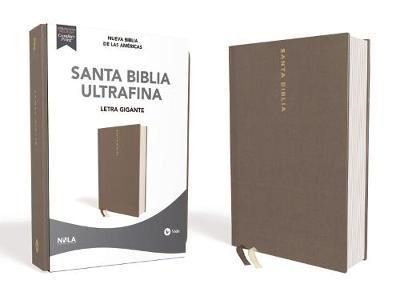 NBLA Biblia Ultrafina Letra Gigante Letra Roja (Tapa Dura Tela Color Gris)