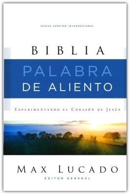 NVI Biblia Palabra De Aliento Max Lucado (Tapa Dura Tela Color Gris)