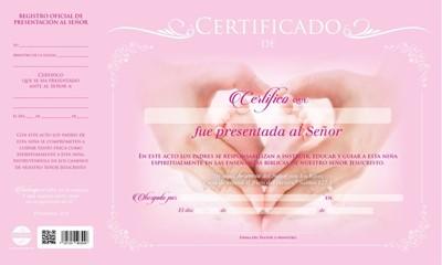 Certificado De Presentación De Niña (Cartón)