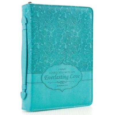 Forro De Biblia Everlasting Love (Cuero Sintético Turquesa)