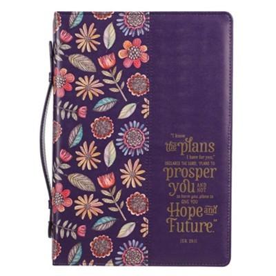 Forro Para Biblias I Know The Plans (Cuero Sintético Purpura)