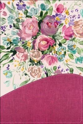 RVR 1960 Biblia Una Joven Conforme Al Corazón De Dios (Lujo Floral Rosa)
