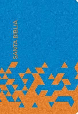 RVR 1960 Biblia para regalos y premios (Simi Piel Océano Azul Papaya )