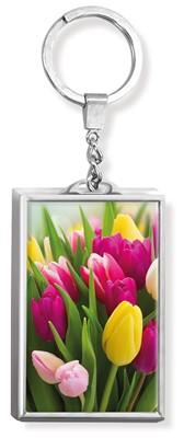 Llavero 3D Tulipanes - Prats (Acrílico Rectangular)