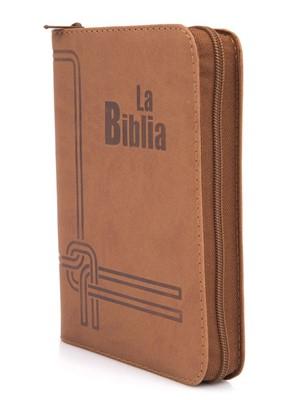 TLA Biblia de Letra Grande Flexible (flexible, Café, Zíper)
