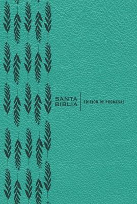 RVR 1960 Biblia de Promesas Letra Grande (Imitación de cuero, turquesa)
