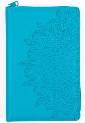 RVR 1960 Biblia de Letra Grande Tamaño Manual (Imitación Piel Aqua / Con Zíper / Índice)