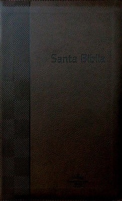 RVR  1960 Biblia de Letra Grande Tamaño Manual (Imitación Piel Café / Con Zíper / Índice)