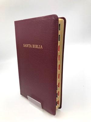 RVR 1960 Biblia Letra Súper Gigante (Imitación Piel Borgoña con Índice)