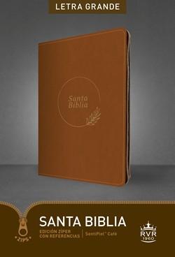 RVR 1960 Biblia Edición Zíper Letra Grande (SentiPiel Café)